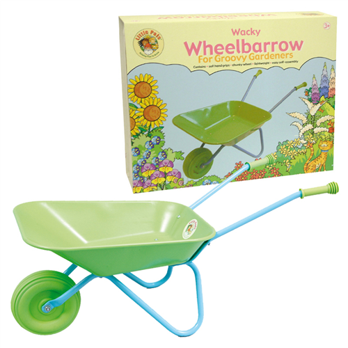 childrens wheelbarrow and box