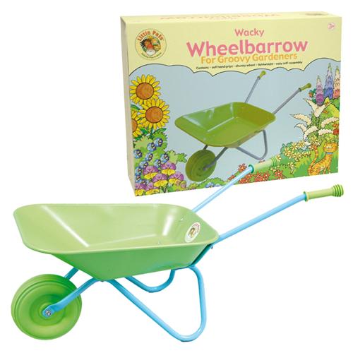 childrens wheelbarrow and box