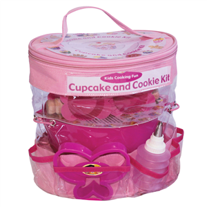 childrens baking set pink