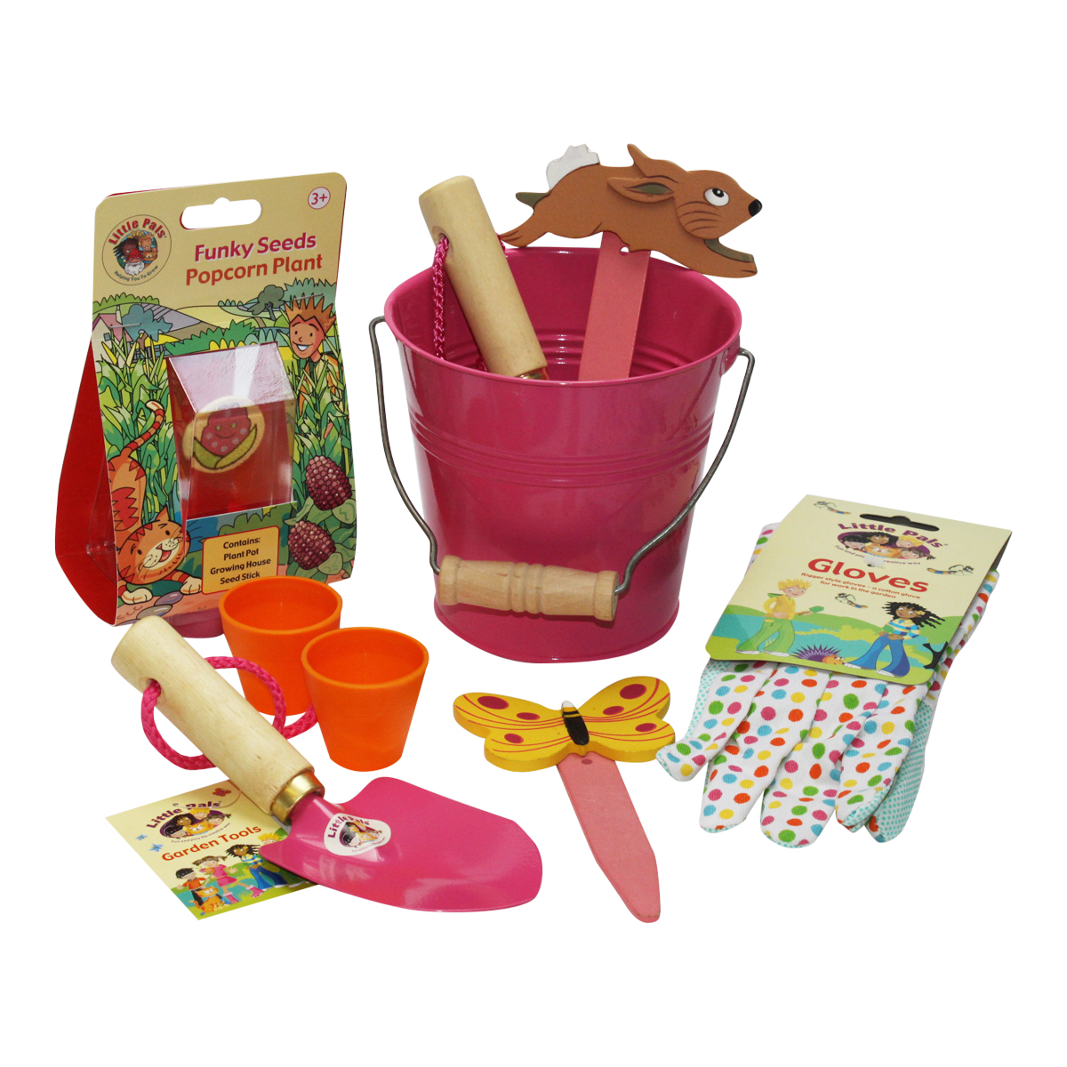 Bucket of Fun Gardening Kit, Pink