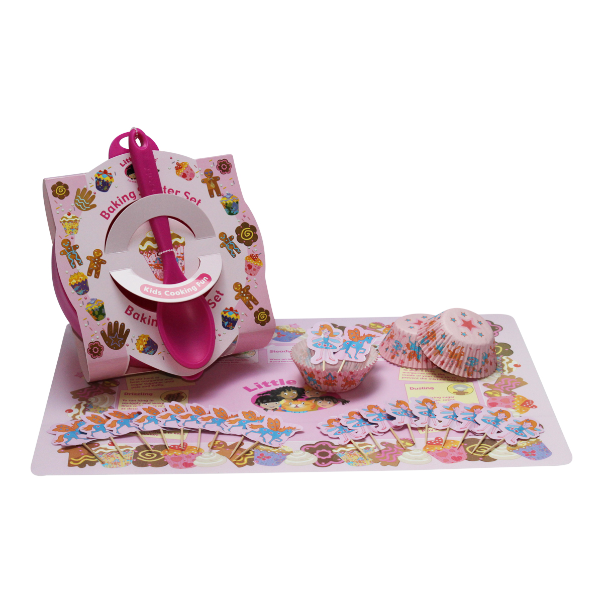 childrens baking starter set, pink
