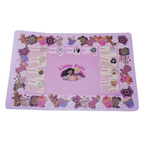 childrens baking activity set pink, mat