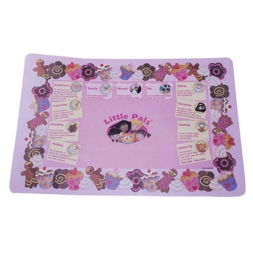 childrens baking activity set pink, mat