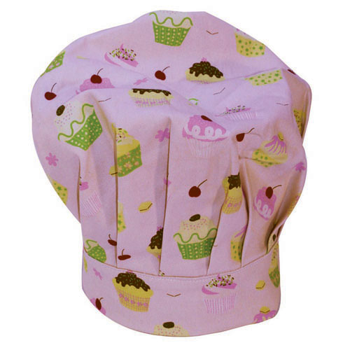 little cooks hat, pink
