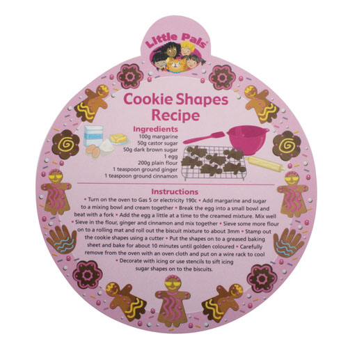 childrens baking set, cookie recipe