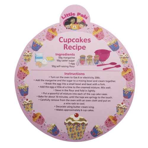childrens baking set, cupcake recipe