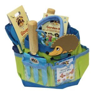 childrens gardening set blue