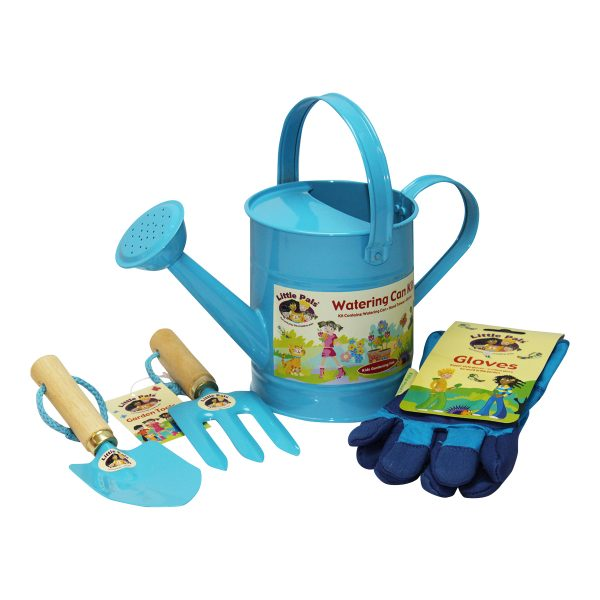 childrens watering can set, blue