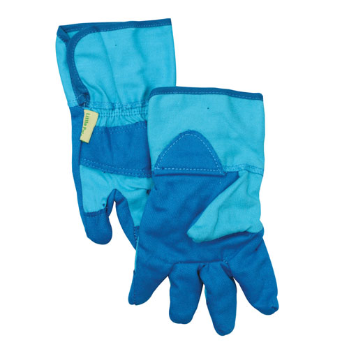 childrens gardening gloves blue