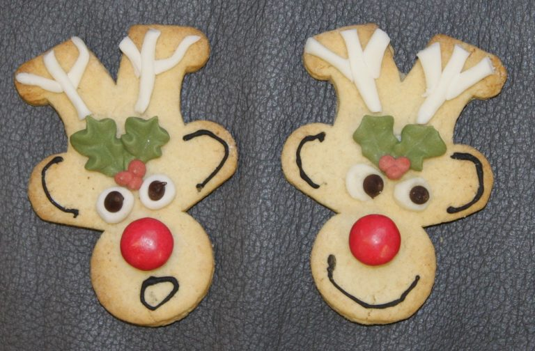 gingerbread man upside down reindeer