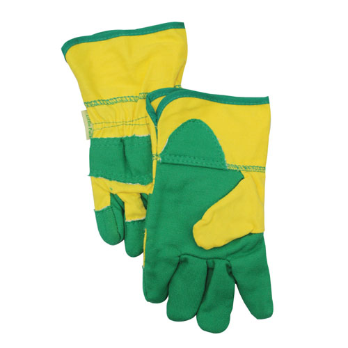 green yellow gloves