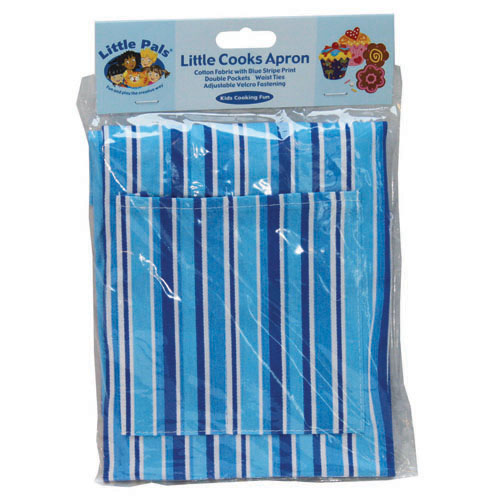 little cooks apron, blue, packed