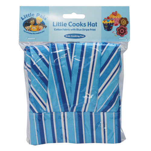 little cooks hat, blue, packed
