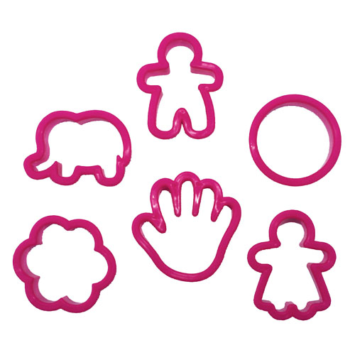 baking activity set pink, cookie shapes
