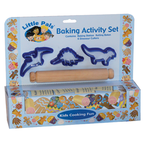 childrens baking activity set blue