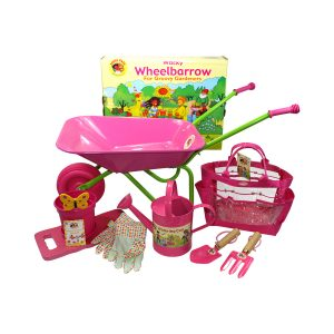 Wheelbarrow and Tool Kit Pink