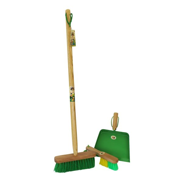 Childrens broom, dustpan and and brush set