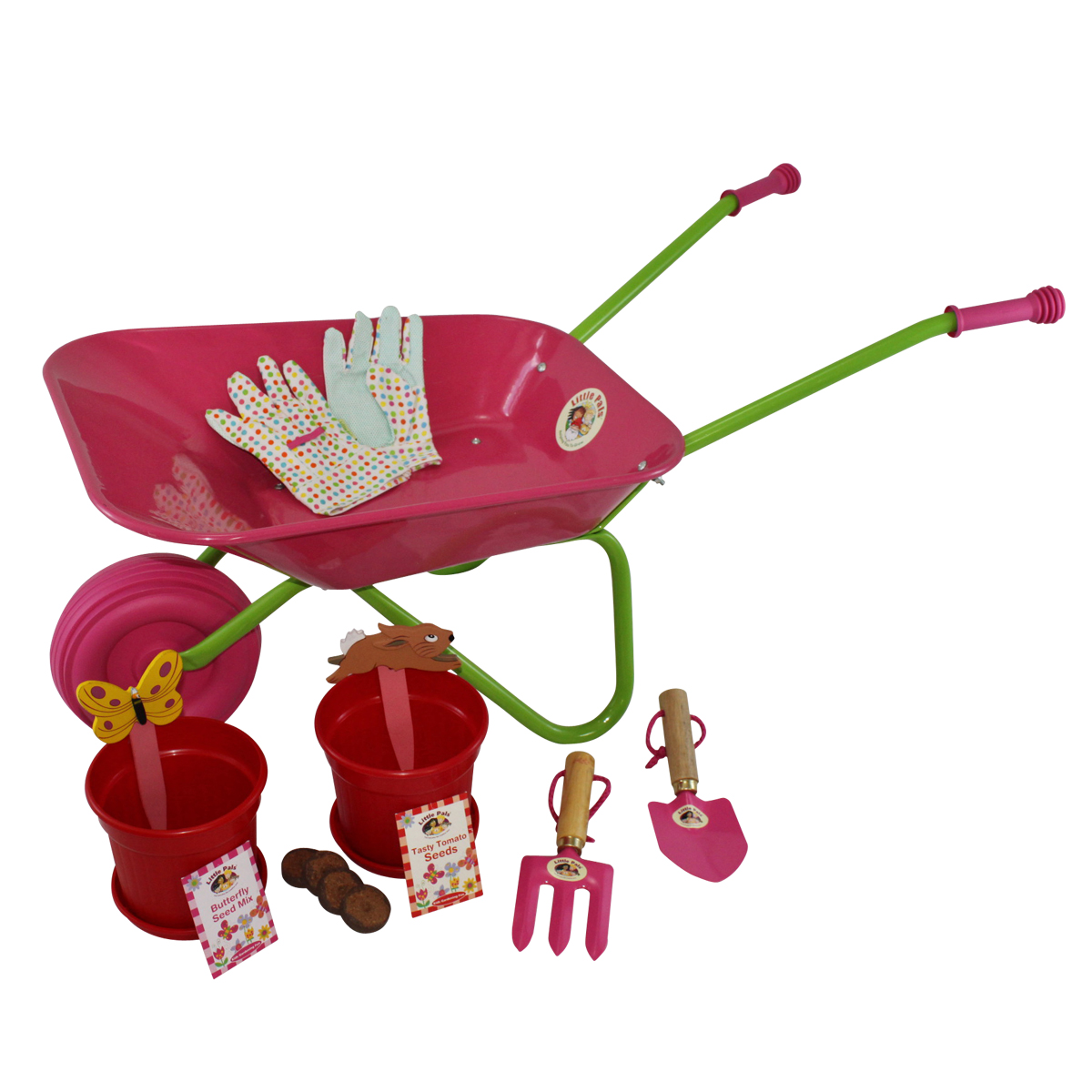 Childrens Wheelbarrow and Growing Set, Pink