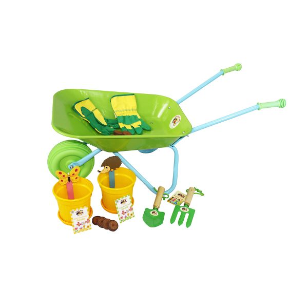 Childrens Wheelbarrow and Growing Set, Green