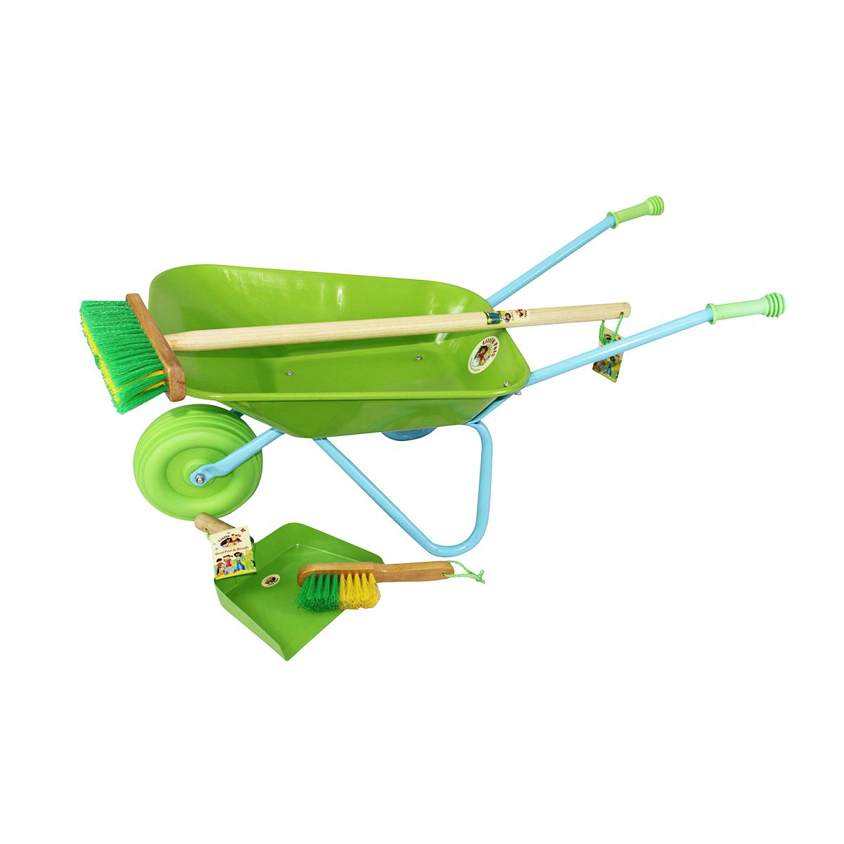 Wheelbarrow and Sweep Up Set