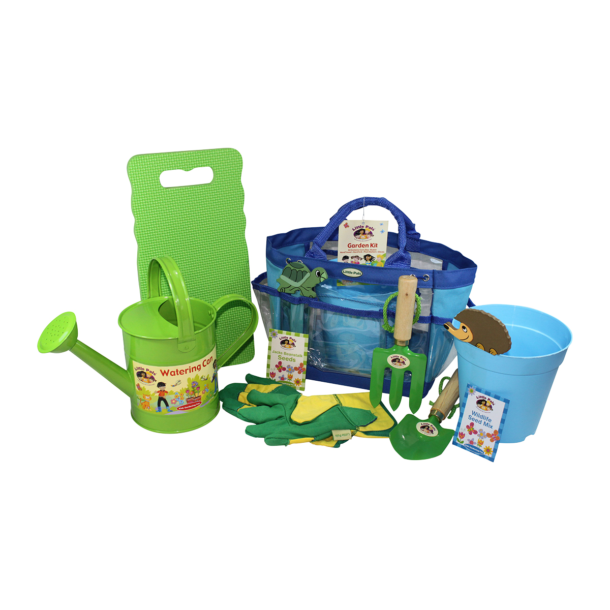 childrens gardening, growing and planting set, blue
