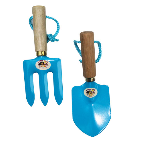 Blue Hand Trowel and Fork