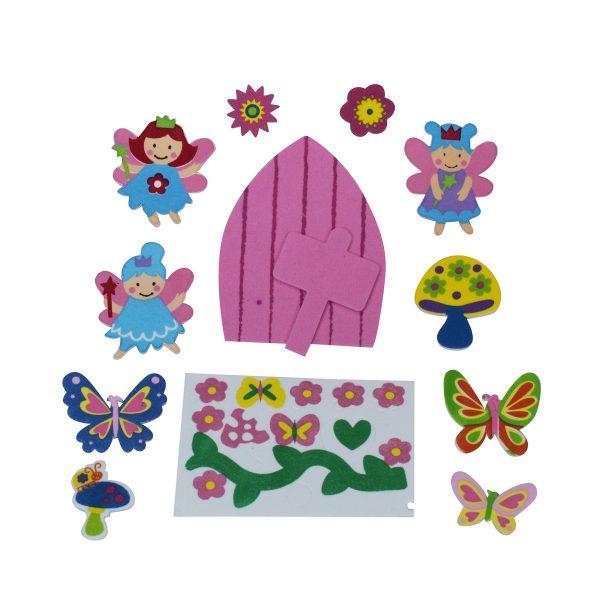 Fairy Flower Garden Stickers and Fariry Door