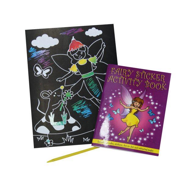 fairy scratch art and sticker book