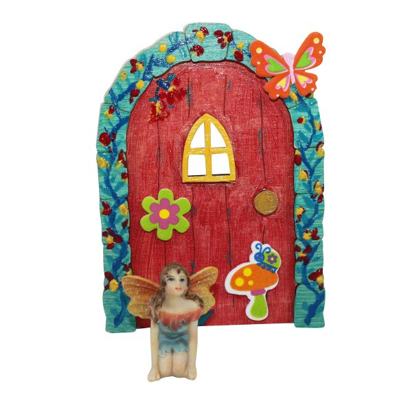 Fairy Door with Stickers and Fairy
