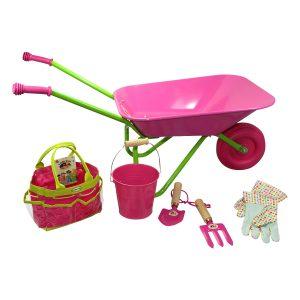 wheelbarrow pink set